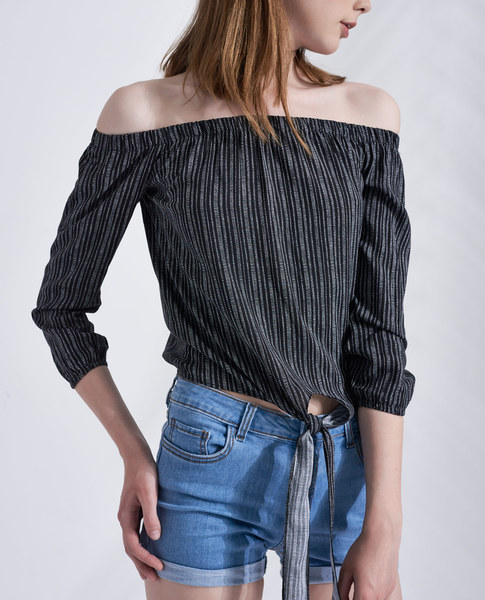 FRONT KNOT TOP (BLACK)