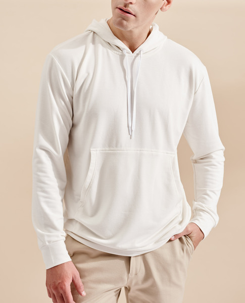 SWEATSHIRT WITH POUCH POCKET (BEIGE)