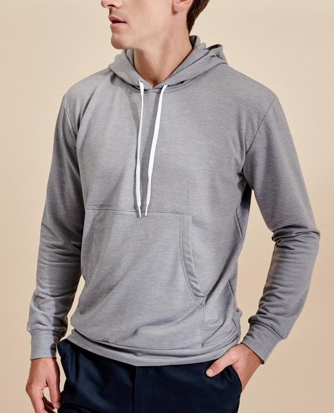 SWEATSHIRT WITH POUCH POCKET (CHARCOAL)