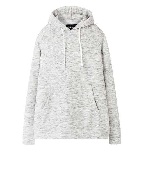 SWEATSHIRT WITH POUCH POCKET (SILVER)