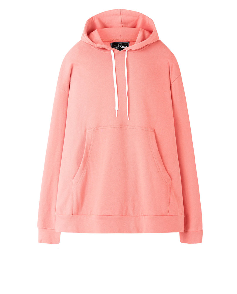 SWEATSHIRT WITH POUCH POCKET (CORAL)