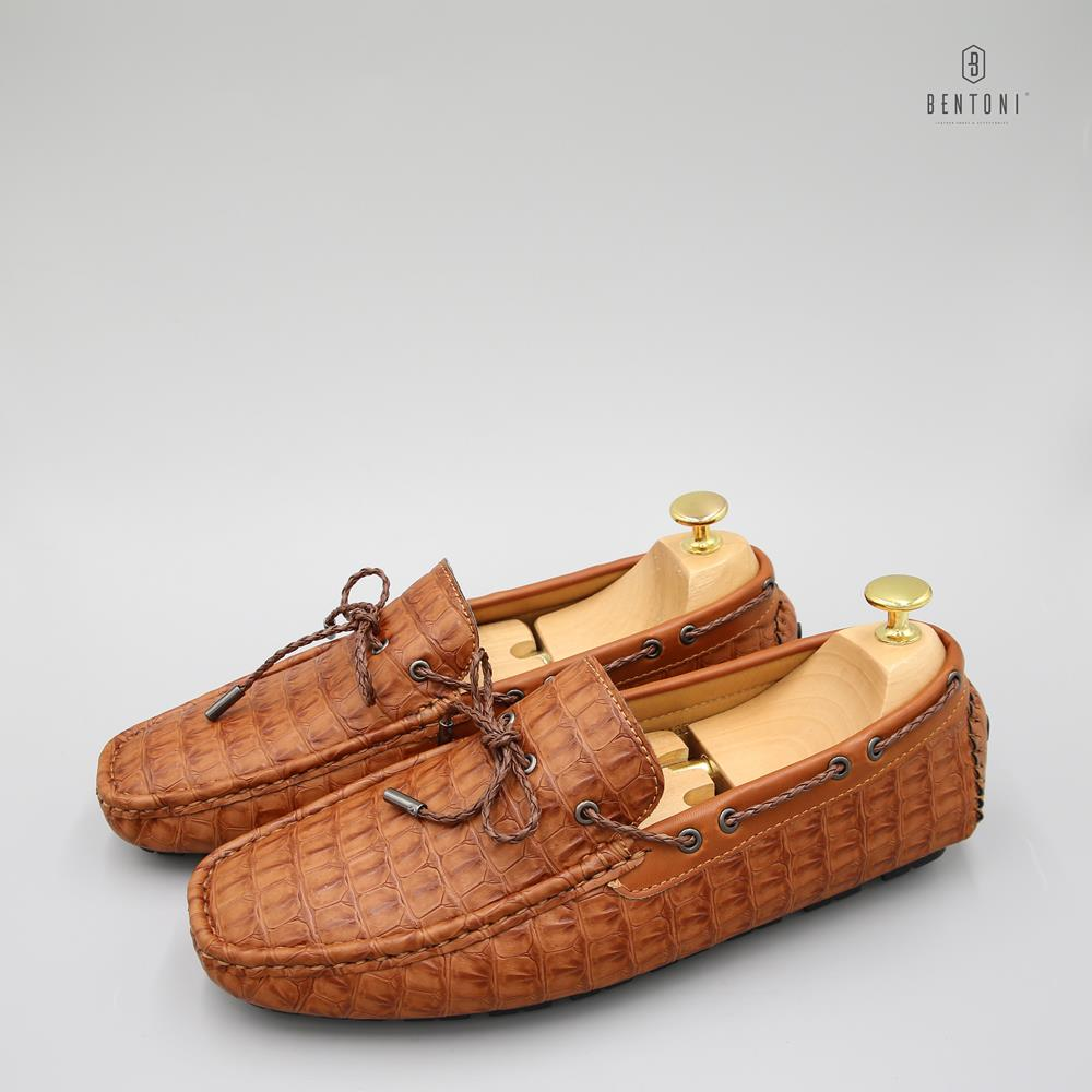 Giày Bow Tie Cracked Loafer