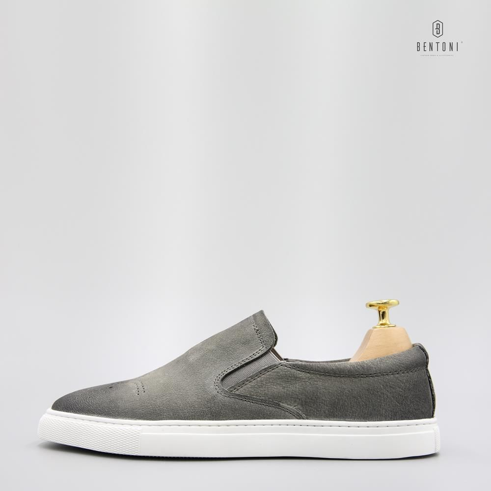 Brogue Slip-on | Xám
