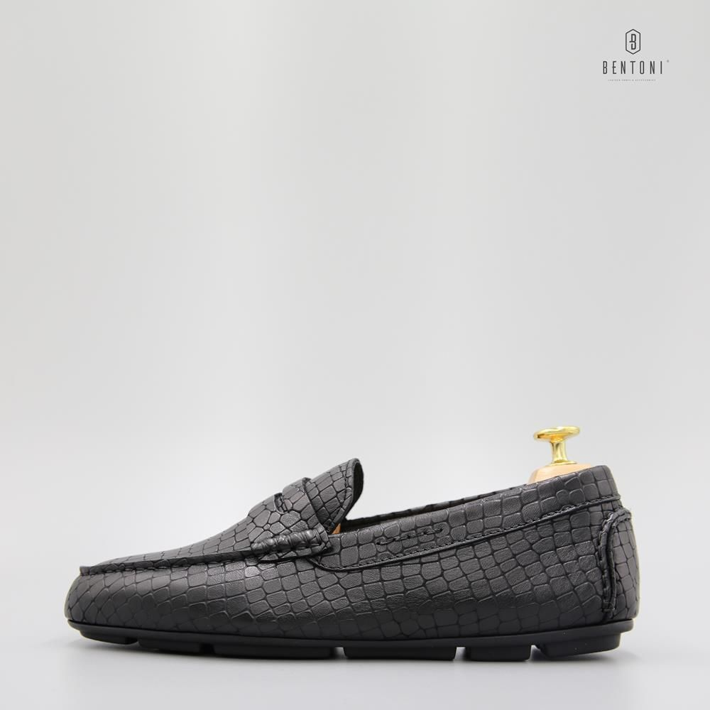 Croco Loafer | Đen-39