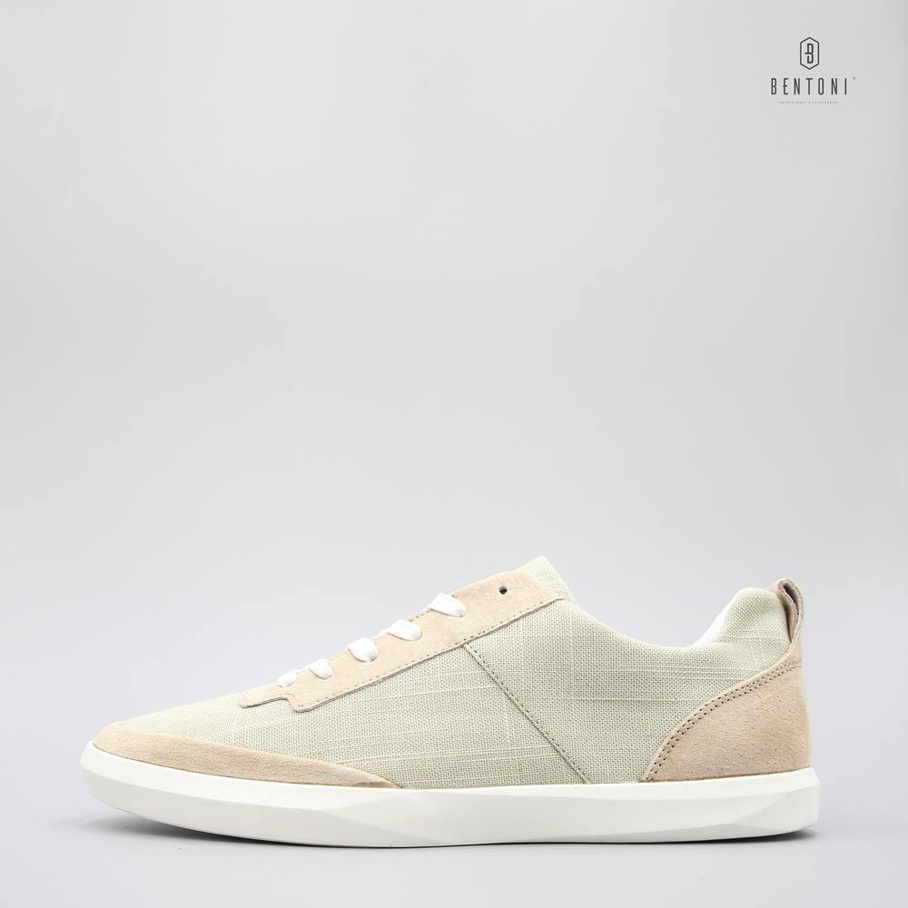 Canvas Mix Sneaker | Be Xanh - 38