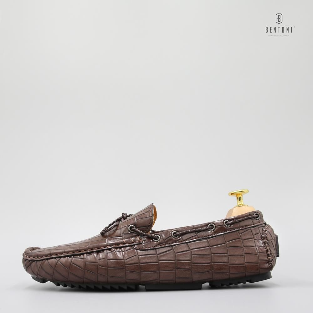 Bow Tie Cracked Loafer | Nâu