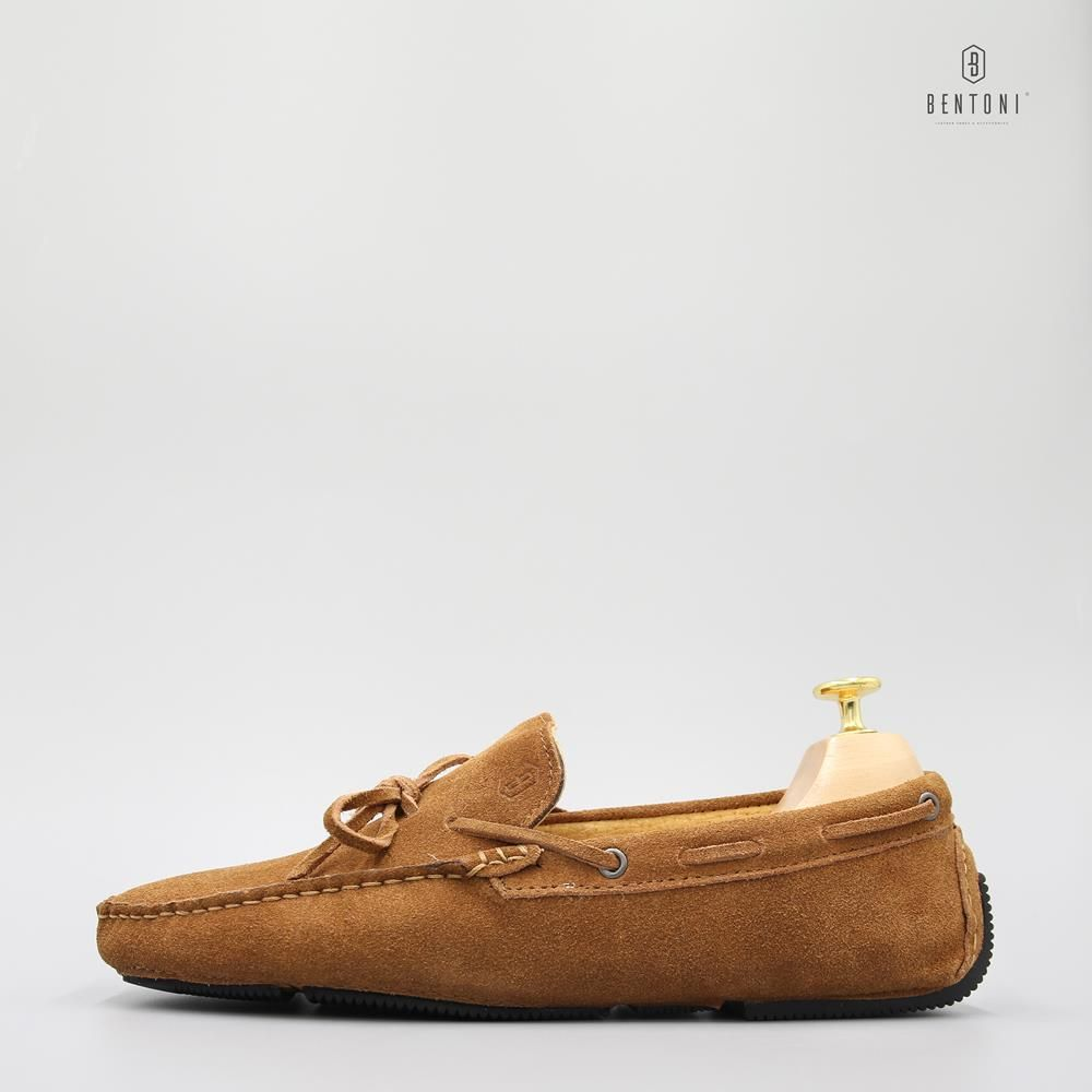 Bow Tie Suede Loafer | Nâu - 40