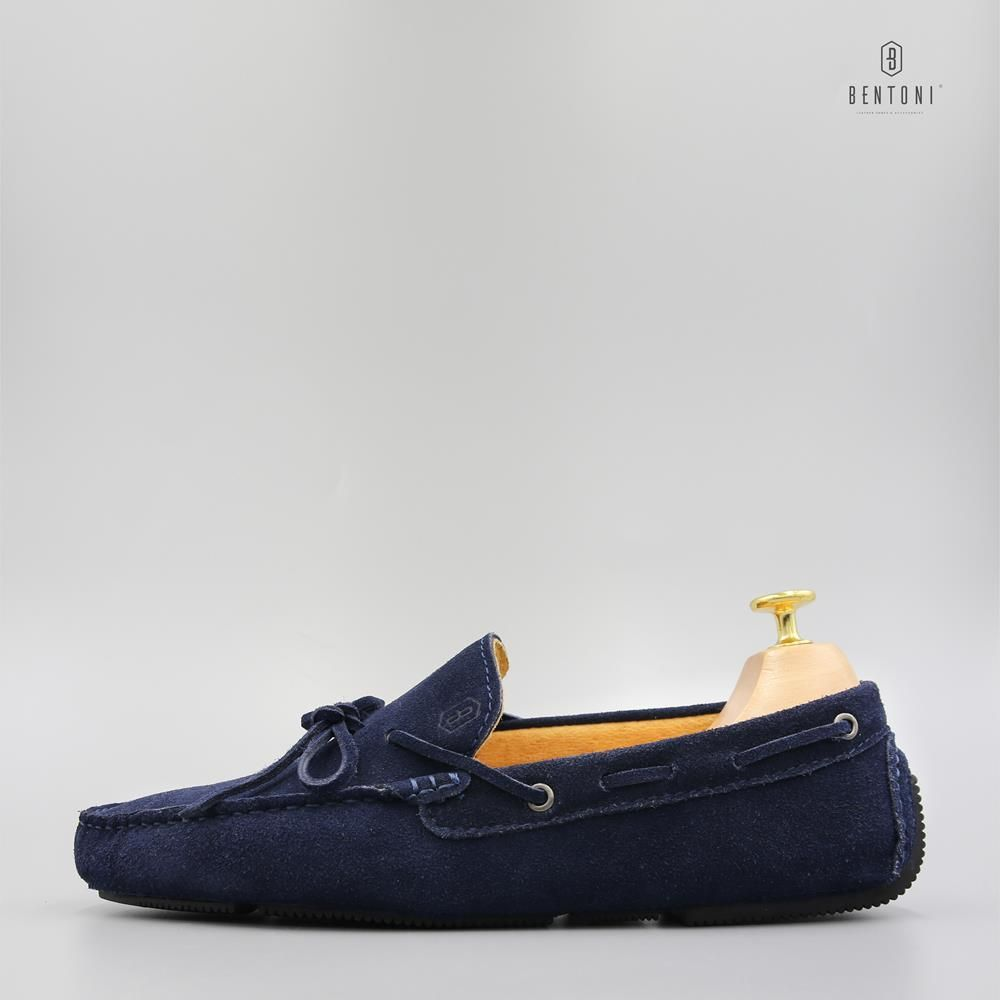 Bow Tie Suede Loafer | Xanh