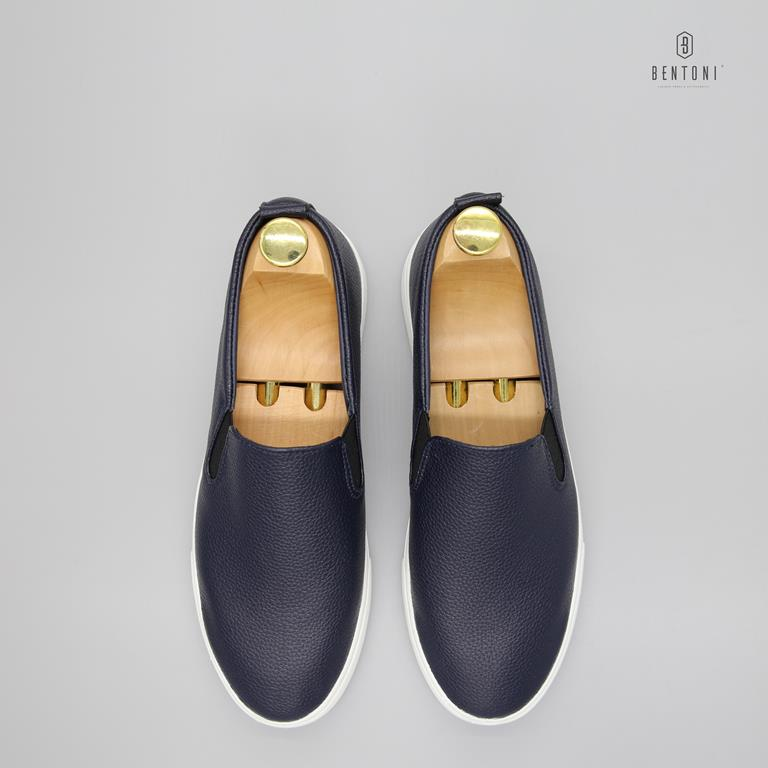 Leather Slipon | Xanh