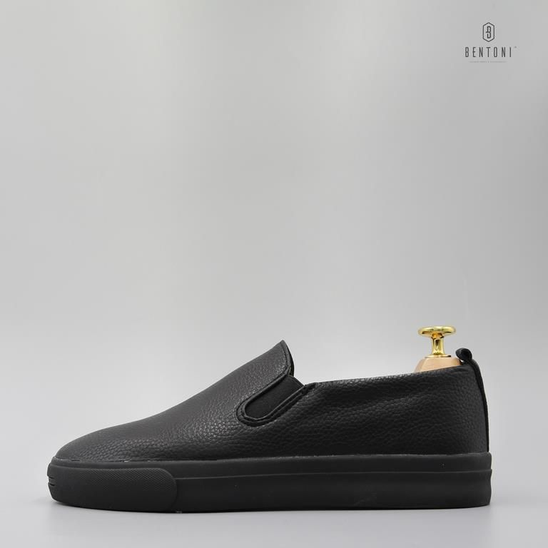 Leather Slipon | Đen