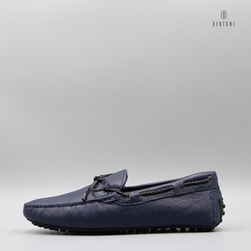 Bow Tie Flexy Loafer | Xanh Tím Than - 39