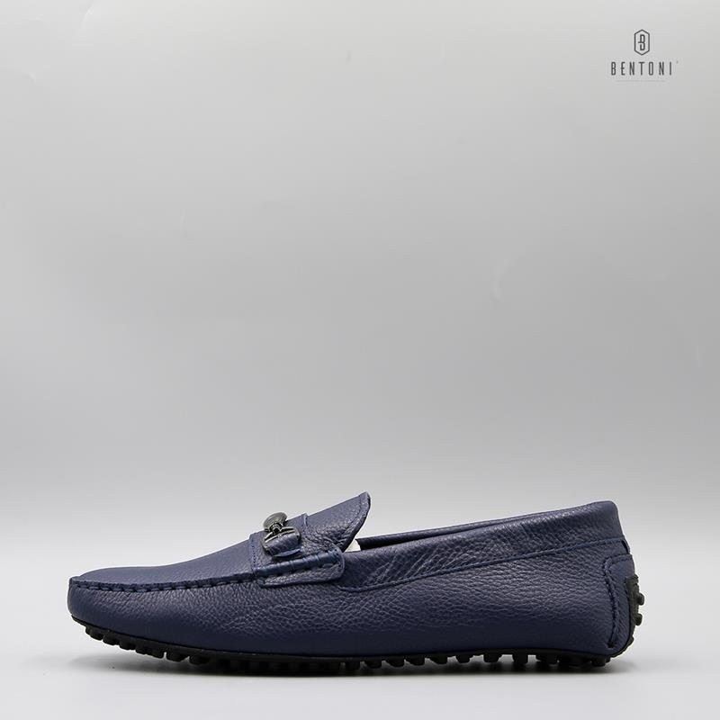 Simple Horsebit Loafer | Xanh Tím Than - 41