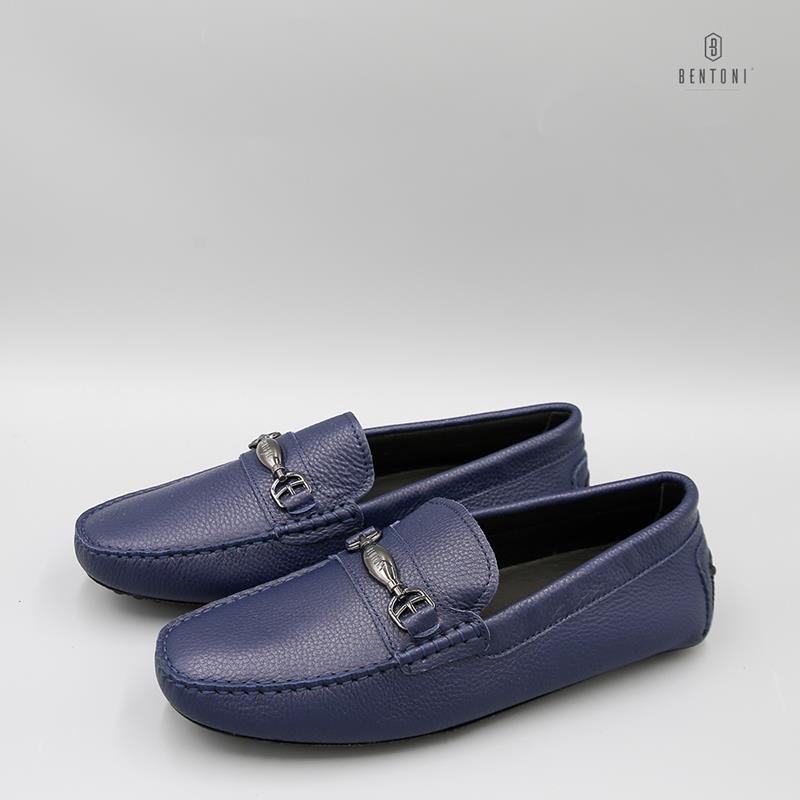 Simple Horsebit Loafer | Xanh Tím Than
