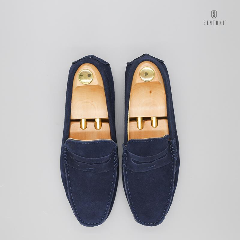 Suede Penny Loafer | Xanh