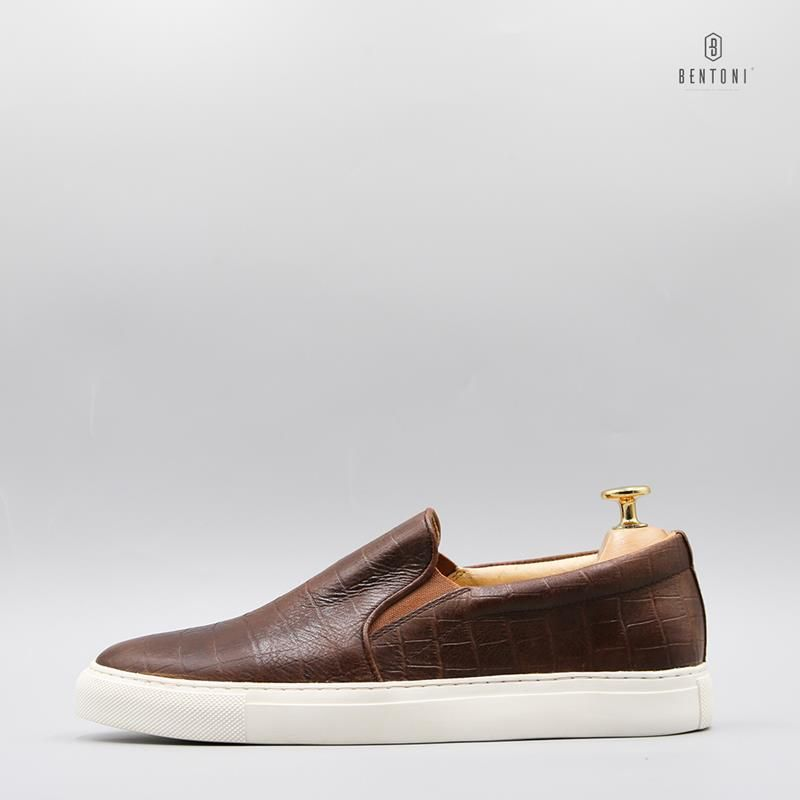 Croco Slip-on | Nâu - 41