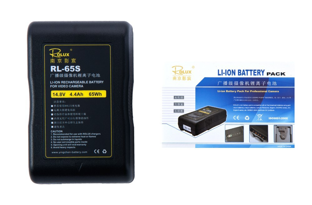 Pin Rolux RL-65S 65Wh Li-ion Rechargeable Battery Sony V-Mount