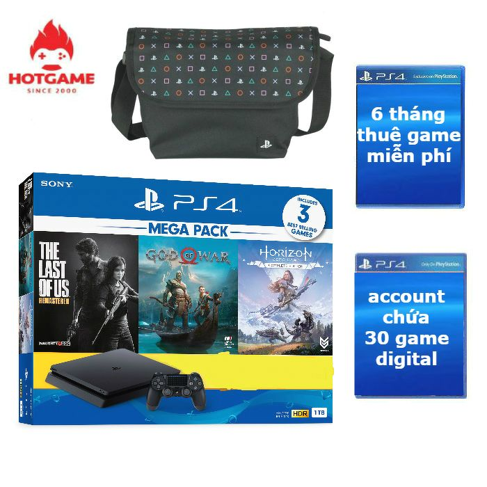 Combo Máy Ps4 slim 1T CUH 2218 mega bundle