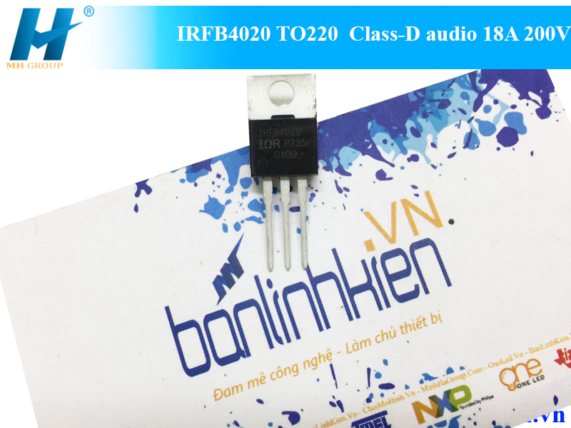 IRFB4020 TO220 Class-D audio 18A 200V