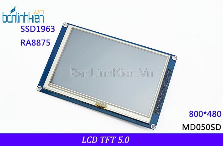 LCD TFT 5.0 Touch IC1963