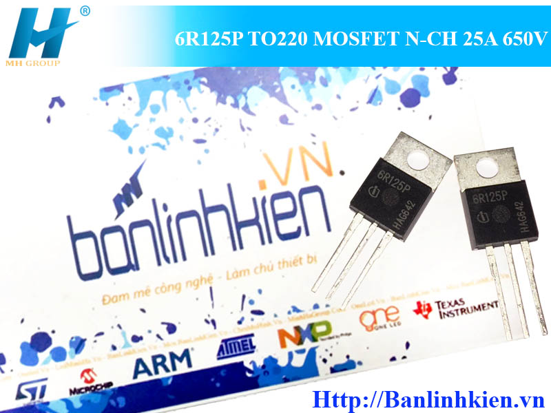 6R125P TO220 MOSFET N-CH 25A 650V