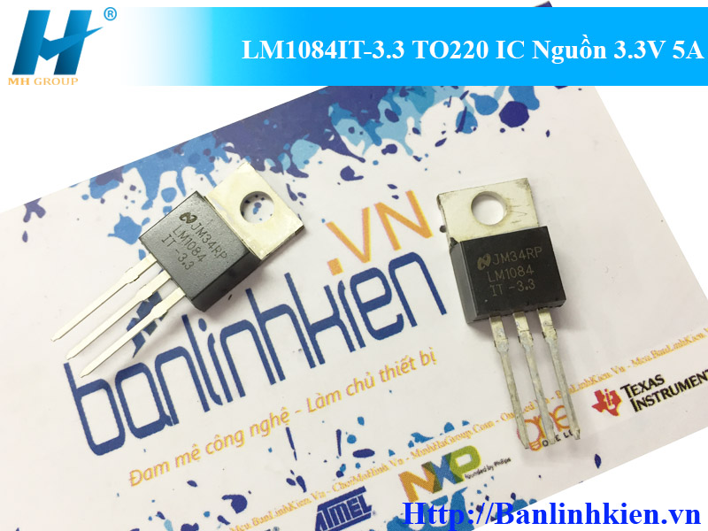 LM1084IT-3.3 TO220 IC Nguồn 3.3V 5A