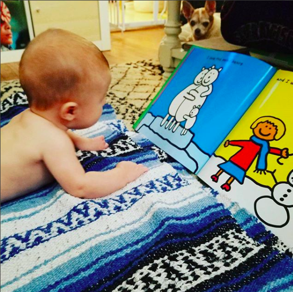 TUMMY TIME IS FOR READING