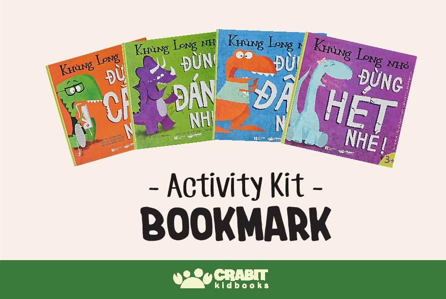 Activity Kit - Bookmark Khủng Long