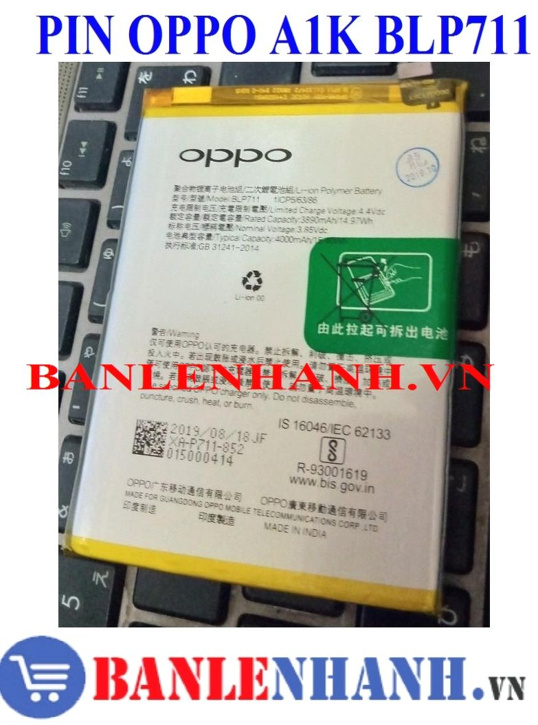 PIN OPPO A1K