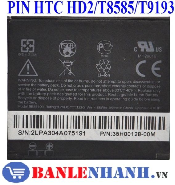 PIN HTC T8585 HD2
