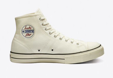 Converse lucky star trắng sữa cao