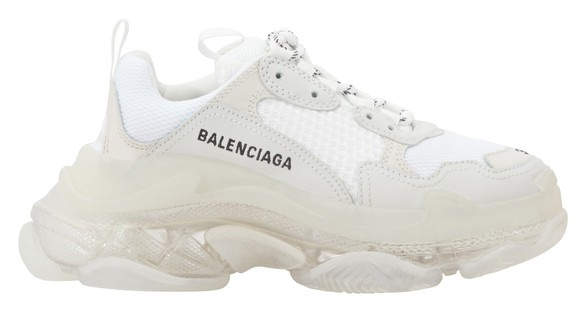 Balenciaga triple s clear sole xám