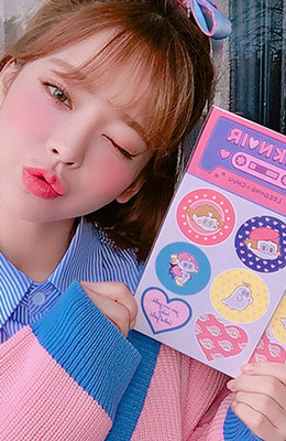 CHUU LEEGONG Pinknoir Vacation Homework Sticker