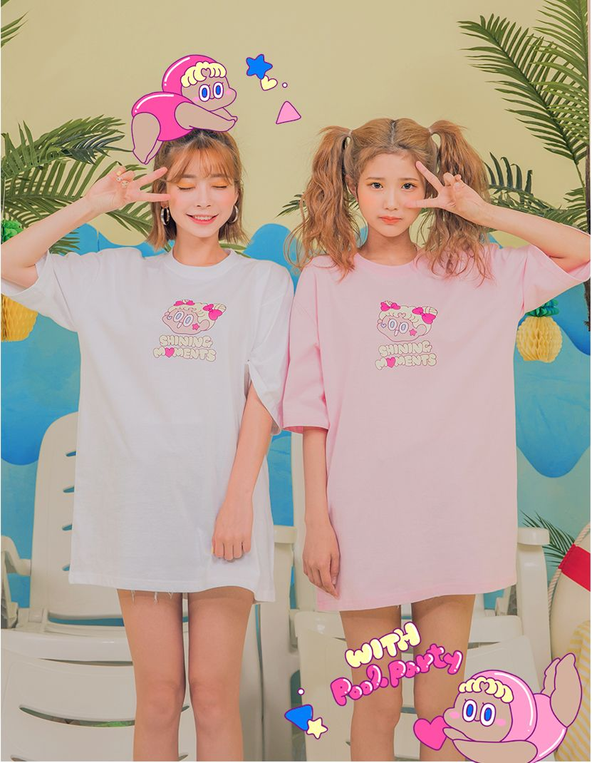 CHUU LEEGONG POOL PARTY Twinkle Shining Tee