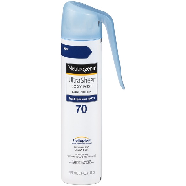 NEUTROGENA - Xịt chống nắng Ultra Sheer Body Mist Sunscreen Broad Spectrum SPF 70 141g
