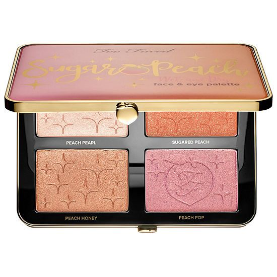 TOO FACED - Bảng phấn mắt Sugar Peach Wet and Dry Face & Eye Palette