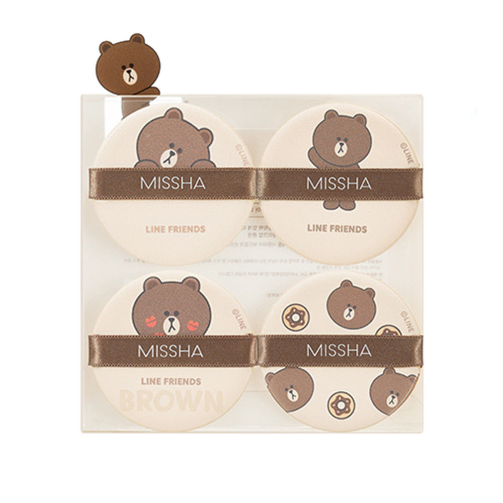 MISSHA - Bông mút Line Friends Cushion Puff (Brown)