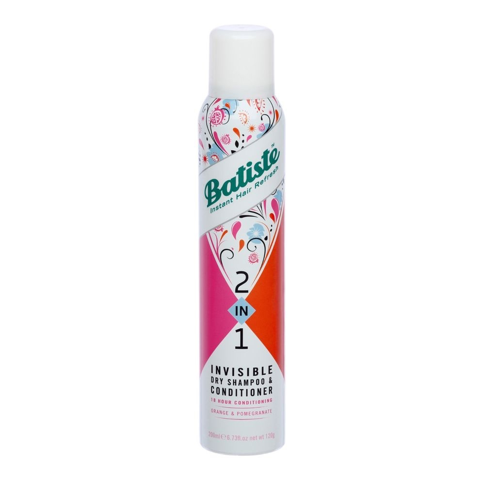 BATISTE - Dầu gội xả khô 2 in 1 Dry Shampoo & conditioner 200ml (Invisible)