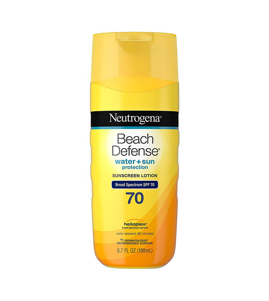 NEUTROGENA - Kem chống nắng Beach Defense Water + Sun Protection Sunscreen Lotion Broad Spectrum SPF 70 (198ml)