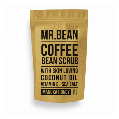 BEANBODY - Tẩy da chết body Coffee Scrub With Skin Loving Coconut Oil Vitamin E - Sea Salt 220g (Manuka Honey)