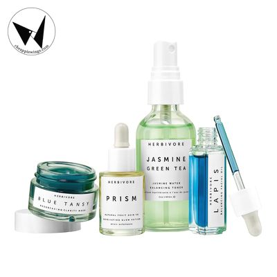 HERBIVORE - Set dưỡng da Balance + Clarify Natural Skincare Mini Collection