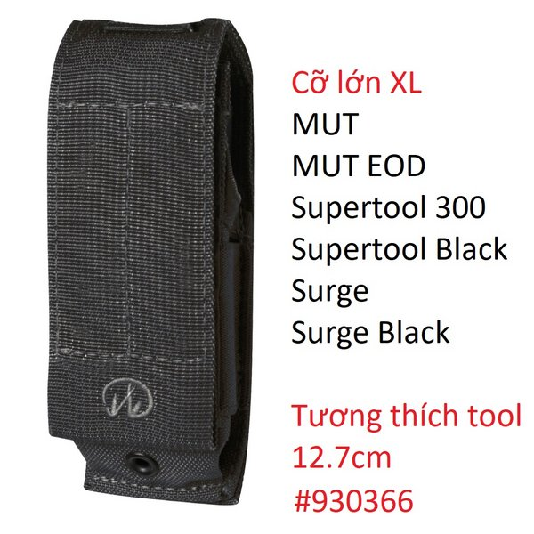Bao Nilon - Màu Đen - Size XL #930371 Leatherman (MUT, Surge, Supertool 300)