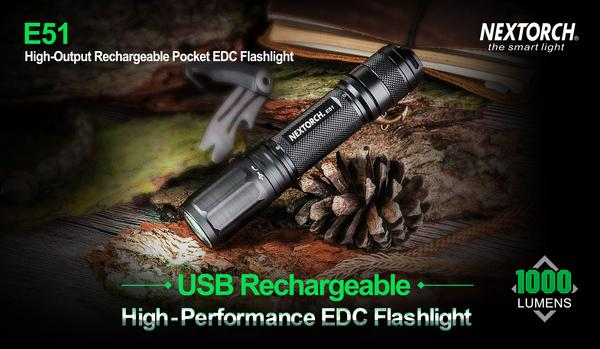Đèn pin Nextorch - E51 - 1000Lumens