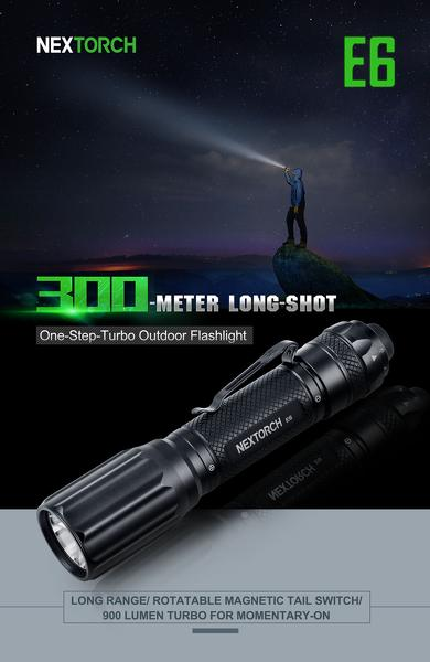 Đèn pin Nextorch - E6 - 900Lumens