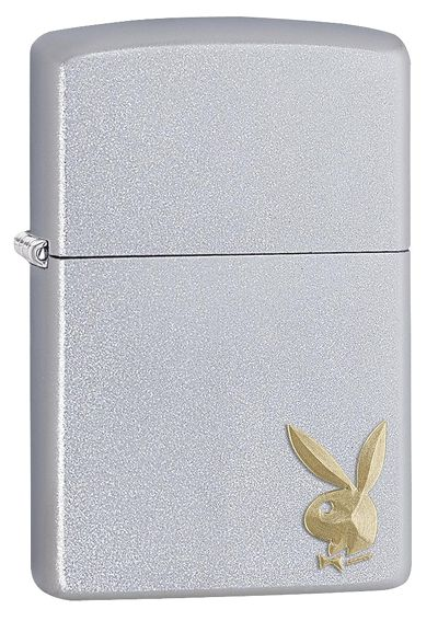 Zippo 29603 - Vỏ Chrome Con Thỏ Playboy Vàng (Playboy Golden Bunny Windproof)