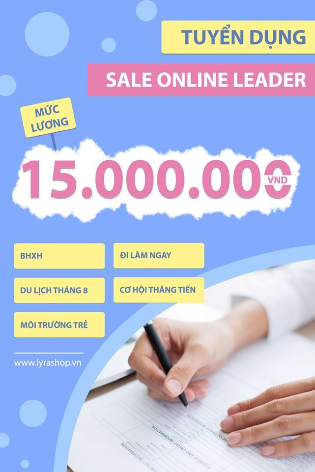 TUYỂN DỤNG SALE ONLINE LEADER