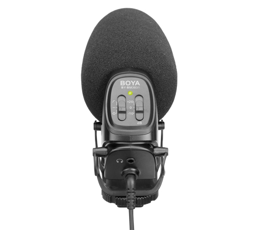 Micro BOYA BY-BM3031 is a supercardioid condenser shotgun microphone