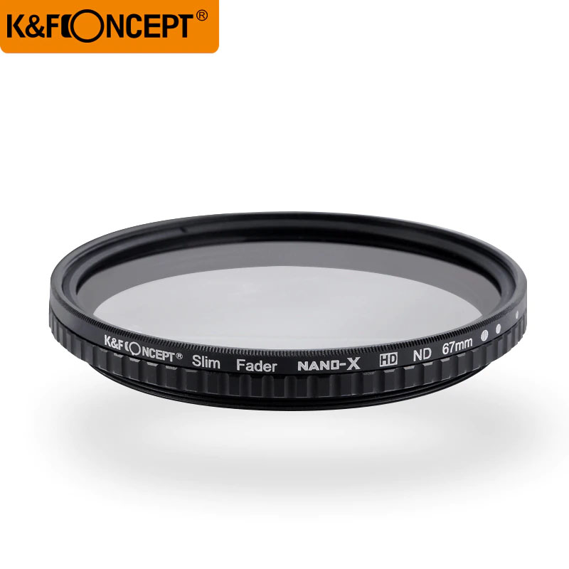 "KF Concept 77mm ND Filter Neutral Density Variable Filter ND2 to ND32 for lens NO""X"" Spot,Nanotec,Ultra-slim"