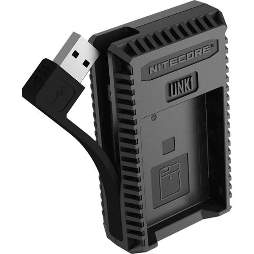SạcNitecore UNK1 Dual-Slot USB Travel Charger for Nikon EN-EL14, EN-EL14a, and EN-EL15 Lithium-Ion Batteries