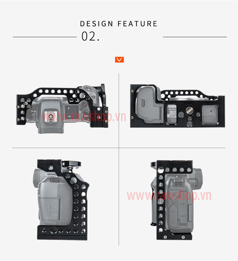 Khung RIG CNC slim fit CANON EOS R
