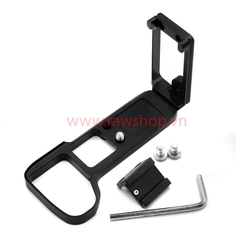 L plate bracket for Sony A7III, A9 with extra hotshoe